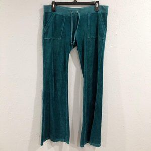 Juicy Couture | Teal Velour Track Sweatpants